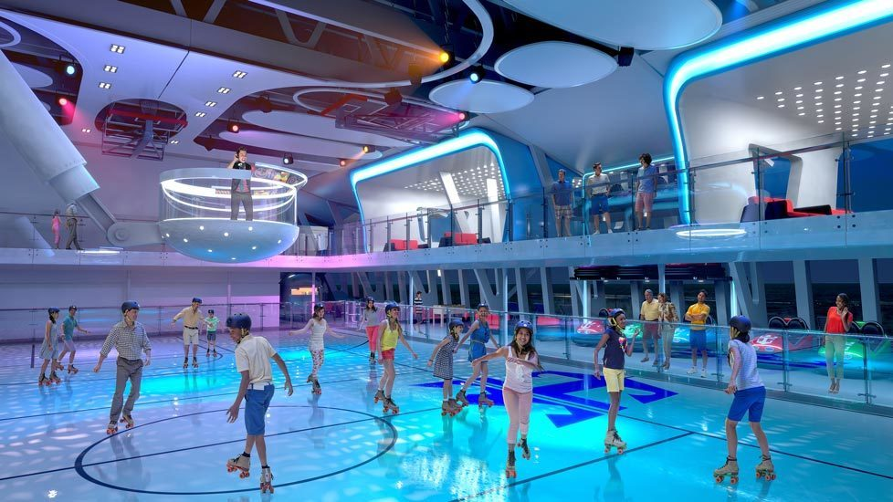 Quantum of the Seas Sea Plex Rollerskating