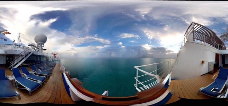 Carnival Dream cruise ship panorama