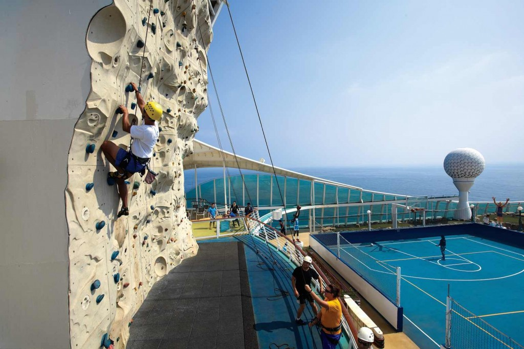 Voyager of the Seas rock climbing