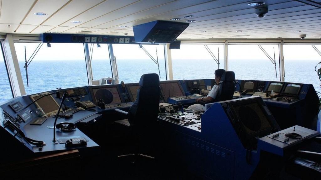 cruise ship's bridge