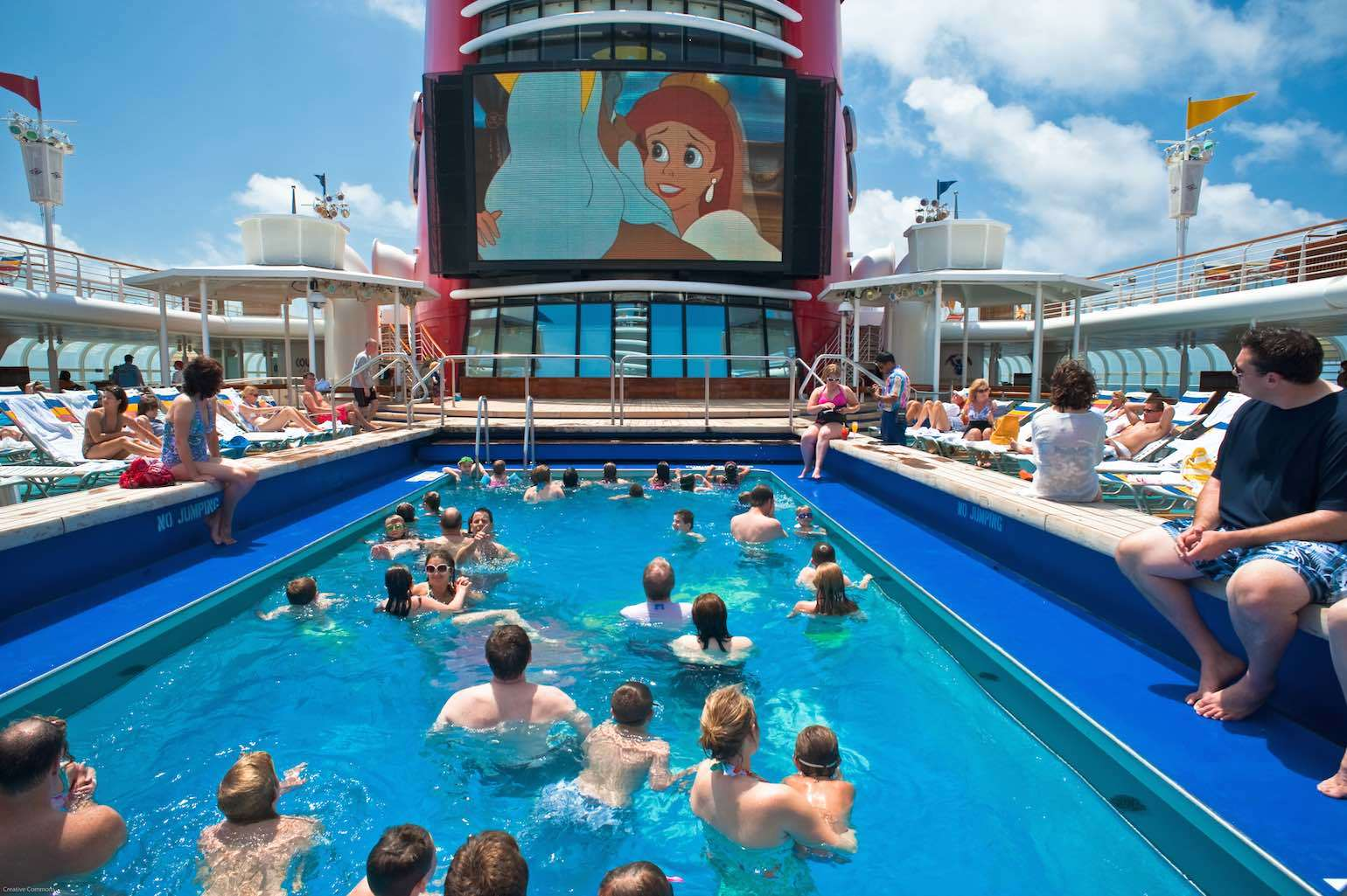 cruise ship pool and cinema