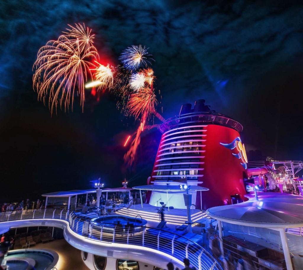 fireworks on Disney Cruise