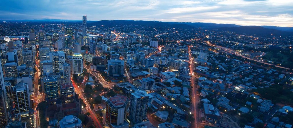 Brisbane Dusk Panorama