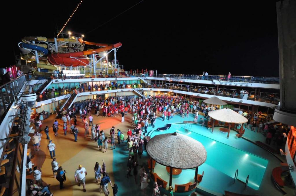 Carnival Magic night pool