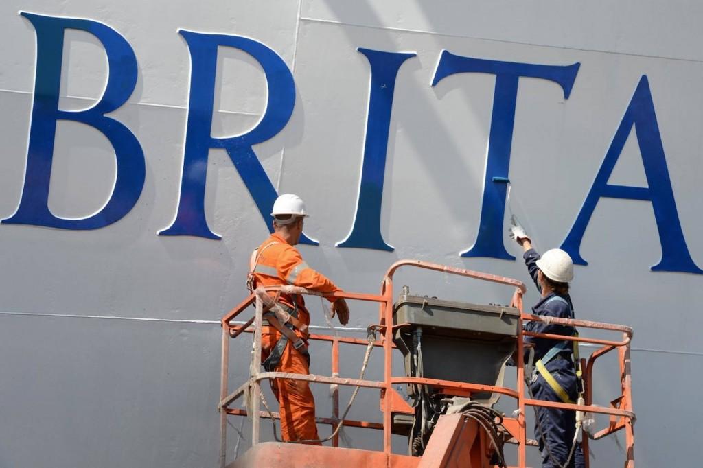 P and O Britannia painting