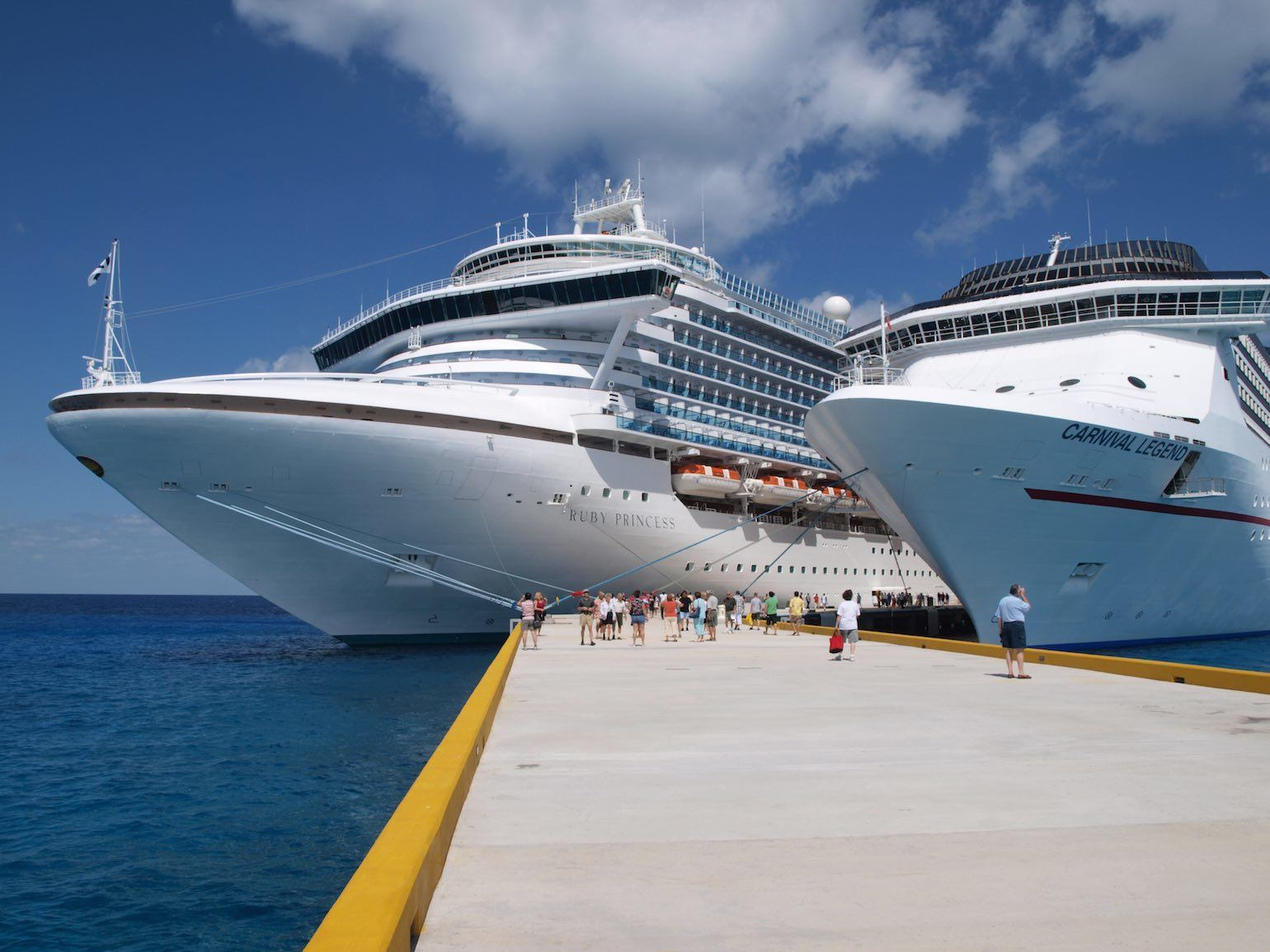 Ruby Princess and Carnival Legend