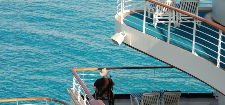 cruise ship with wheelchair