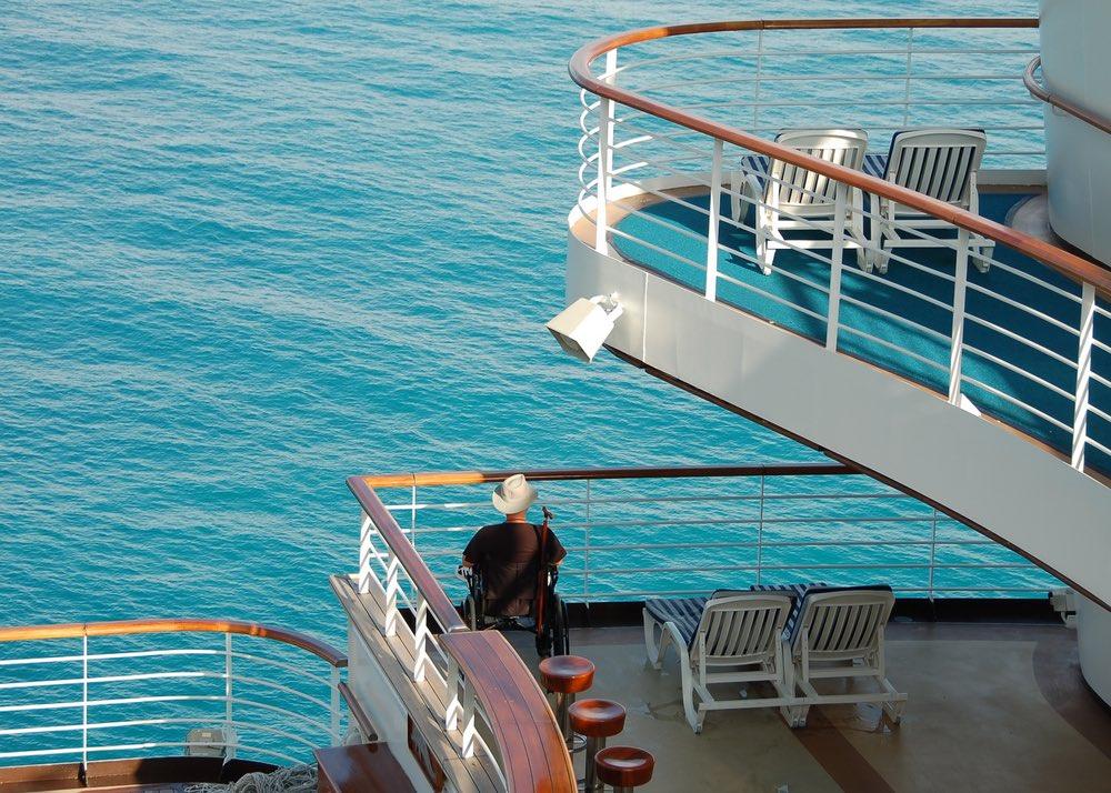 cruise ship with wheelchair