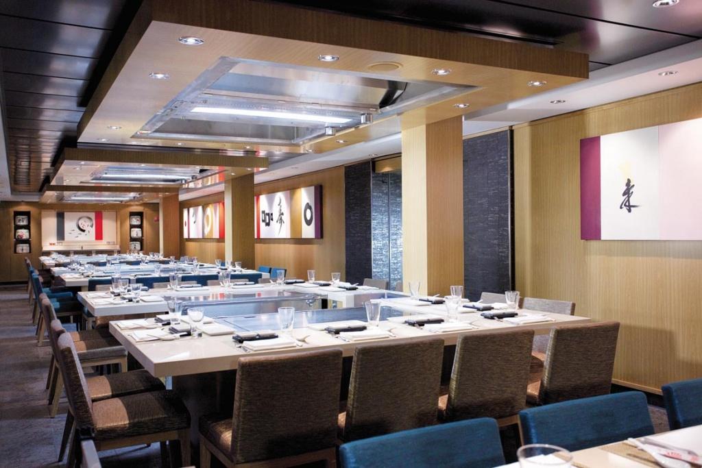 Norwegian Epic Hibachi Grills restaurant