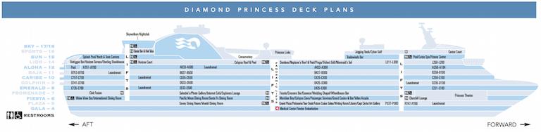 Diamond Princess deck plan thumbnail