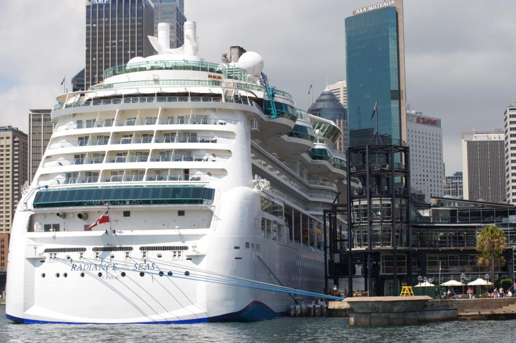 Radiance of the Seas docked at Sydney Harbour