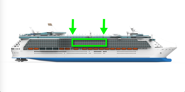 cruise ship starboard illustration