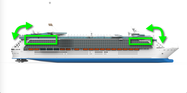 cruise ship starboard illustration