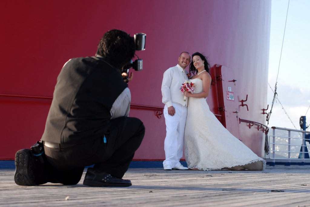 Carnival Victory cruise ship wedding