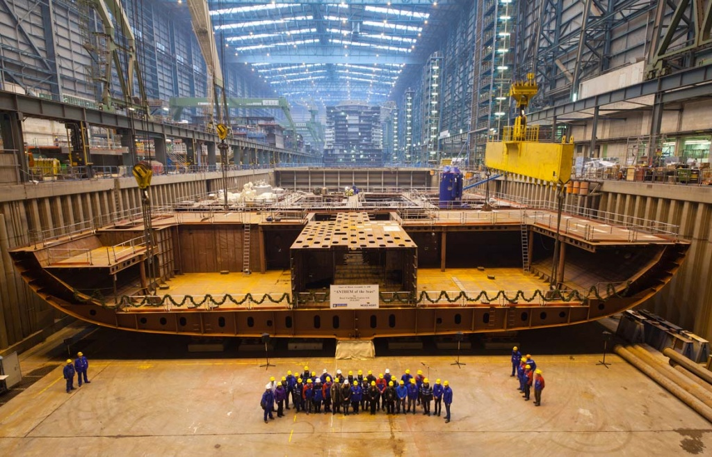 Meyer Werft Anthem of the Seas keel