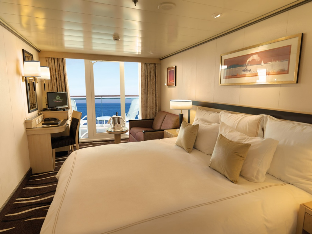 Queen Mary 2 Cruise Ship : Queen Mary 2 Deluxe Balcony Stateroom 1024x768 from cruisedeals.expert size 1024 x 768 jpeg 170kB
