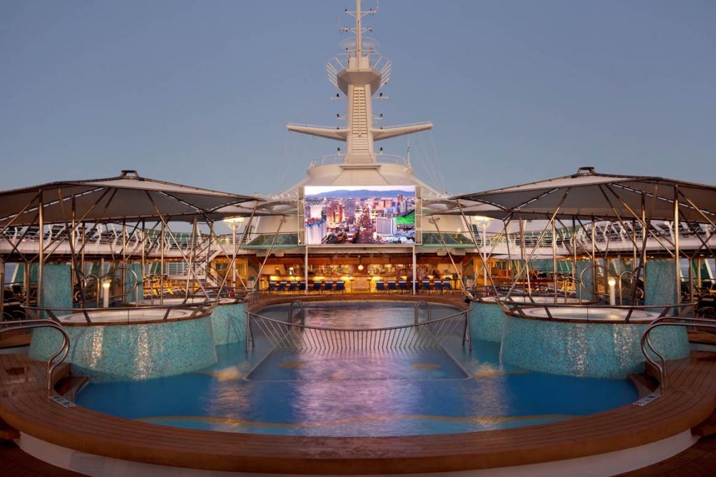 Rhapsody of the Seas outdoor movie screen