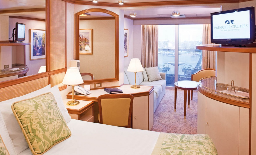 Sea Princess Oceanview Double with Balcony 2