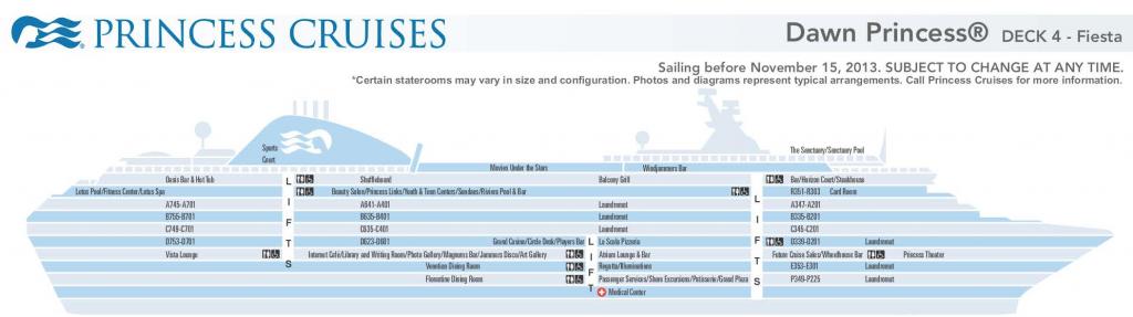 Dawn Princess deck plan thumbnail
