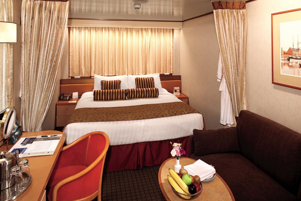 Pacific Aria and Eden inside stateroom