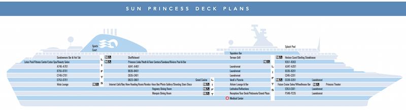 Sun Princess deck plan