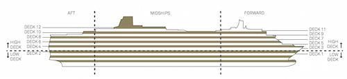 Queen Elizabeth deck plan logo