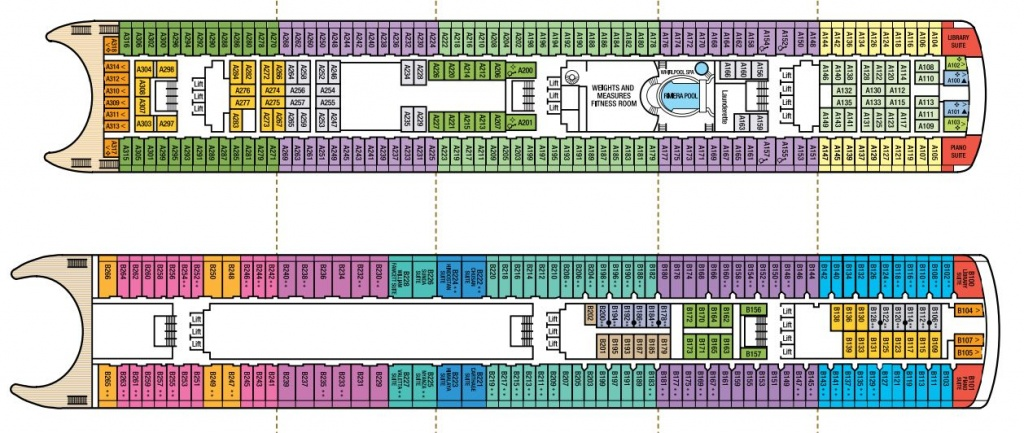 MV Aurora deck plans