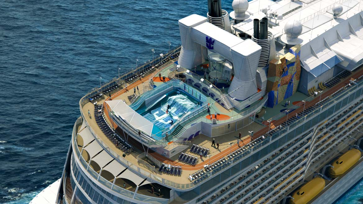 Quantum of the Seas Rock Climbing Wall and FlowRider
