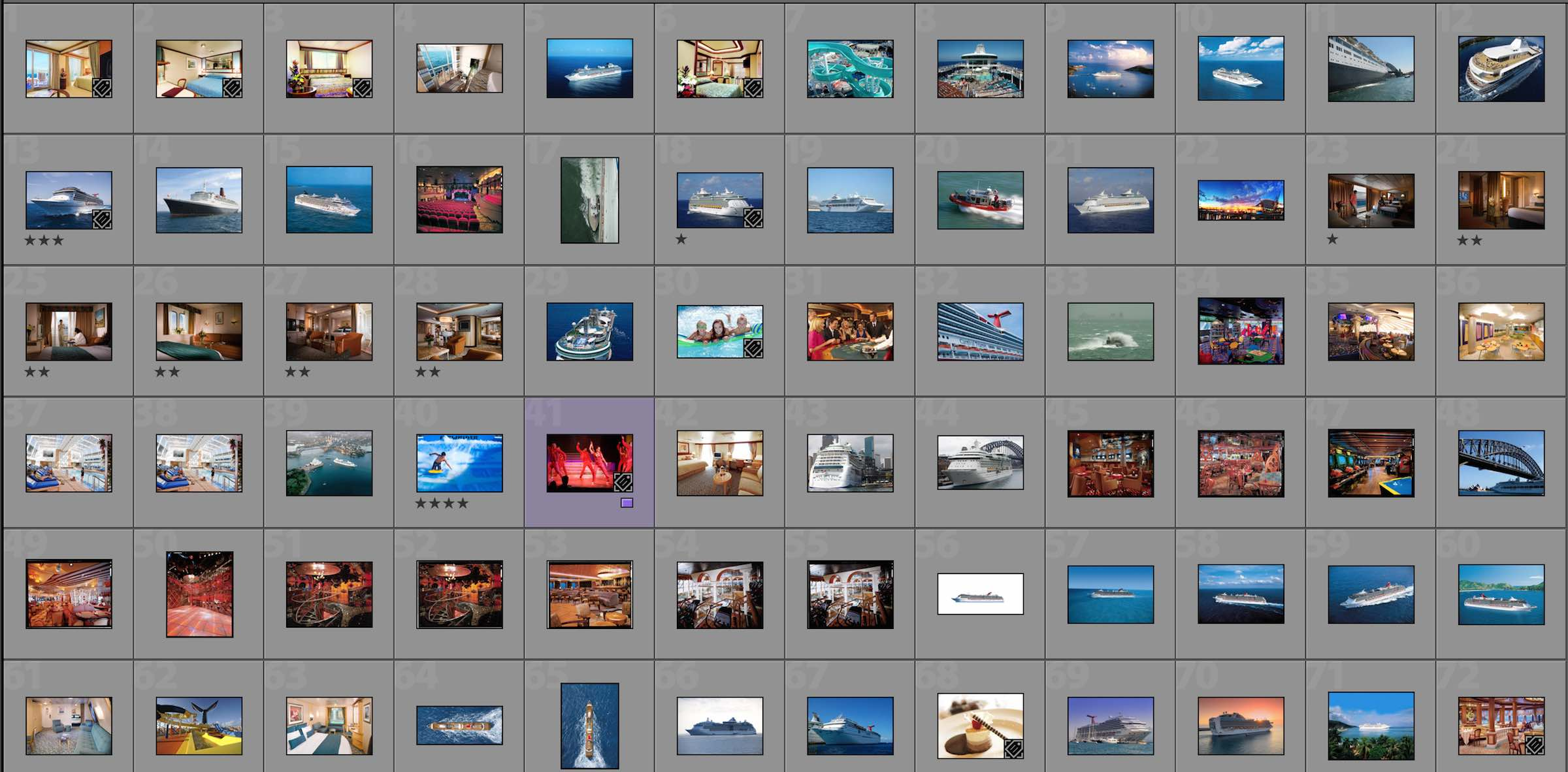 Cruise Line Image Library screen