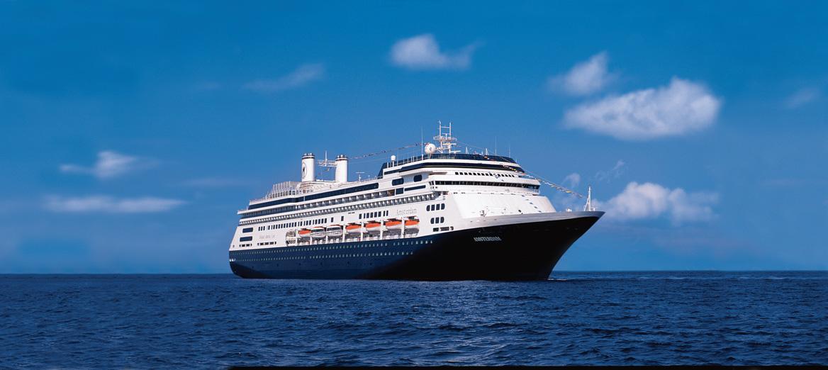 ms Amsterdam cruise ship panoramic