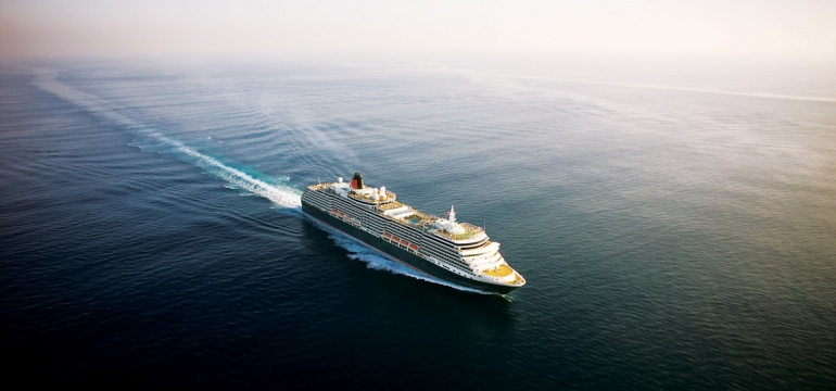 Queen Victoria cruise ship at sea