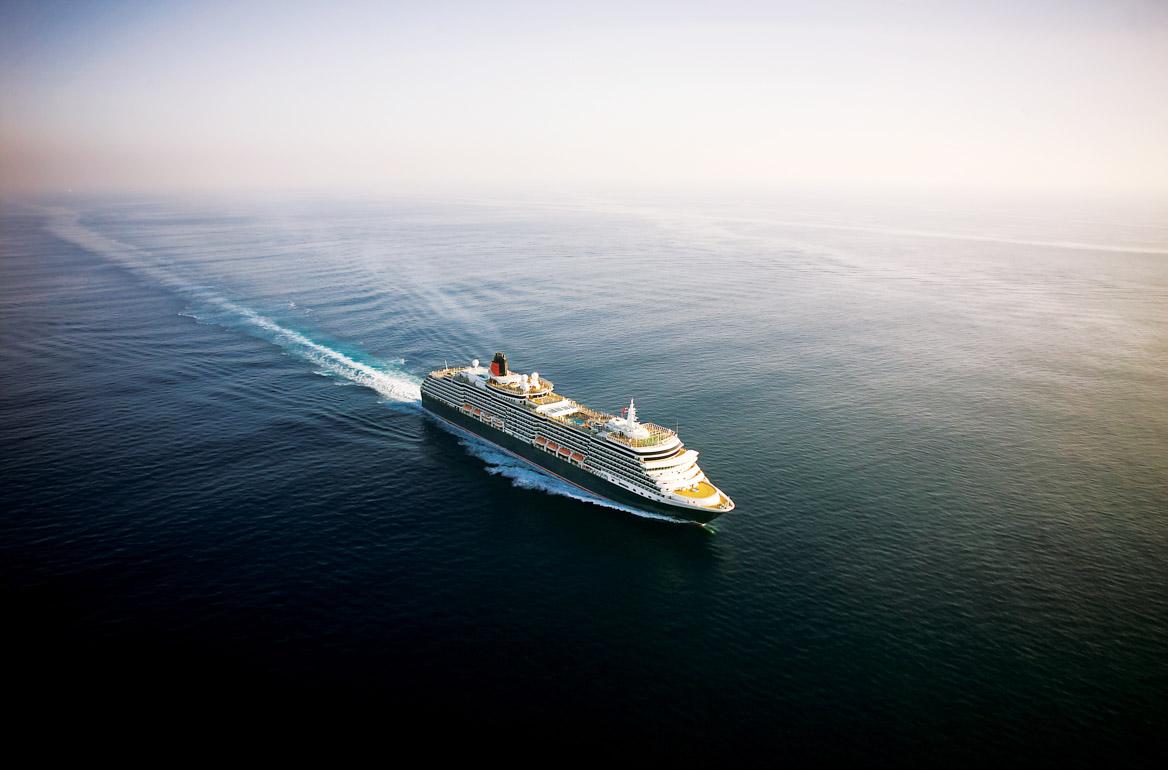 Queen Victoria cruise ship at sea