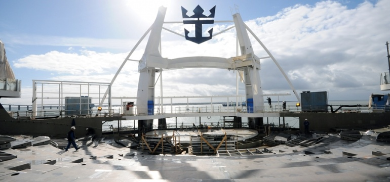 Harmony of the Seas under construction