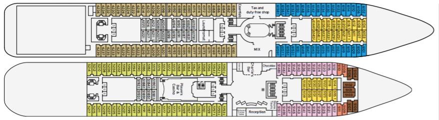 Pacific Pearl deck plan thumbnail