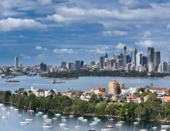 Panorama of Sydney including Cremorne and Wooloomoloo
