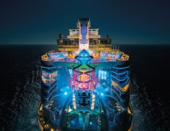 Harmony of the Seas at night