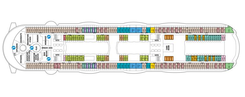 Oasis of the Seas deck plan