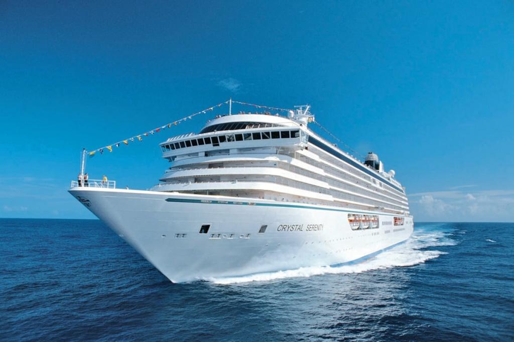 Crystal Serenity luxury cruise ship at Sea