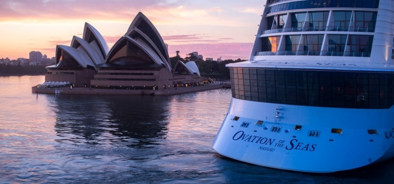 Ovation of the Seas arriving into Sydney