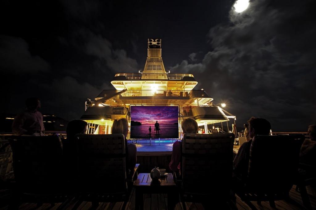 SeaDream cruise ship movie night