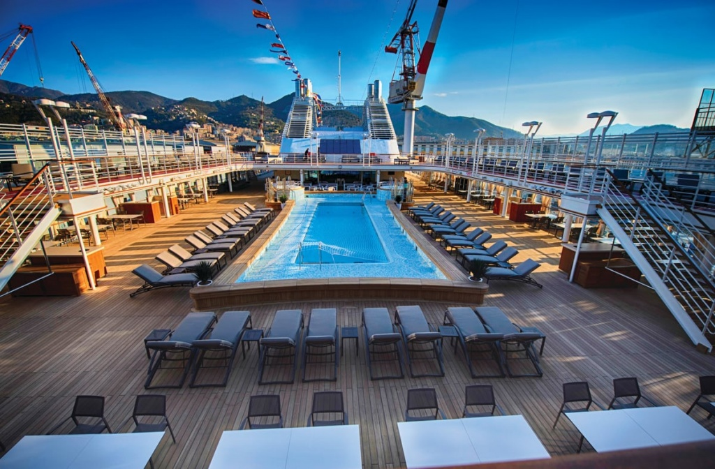 Silver Muse cruise ship top deck