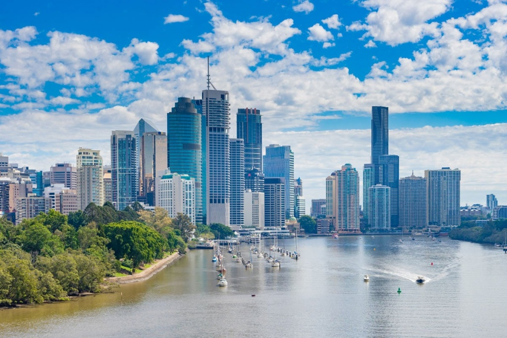 Brisbane CBD and Brisbane River