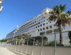 Cruise Ship docked for boarding at Hamilton Brisbane