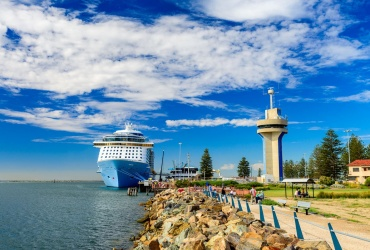 Port Adelaide - MS Ovation of the Seas cruise ship docked at Outer Harbour