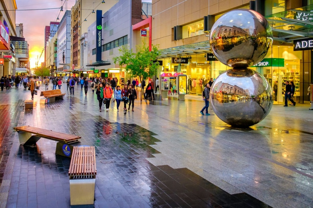 Rundle Mall in Adelaide CBD